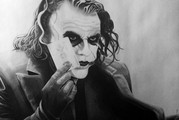 Heath Ledger Joker drawing