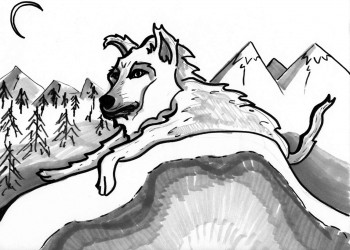Lounging Wolf