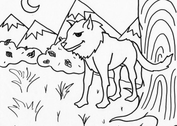 Wolf by the Tree