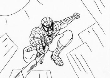 Web-slinging Spider-man