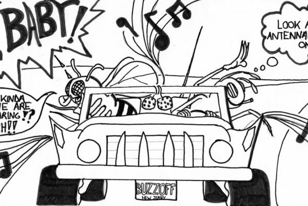 Bug Book pen and marker illustration page 5