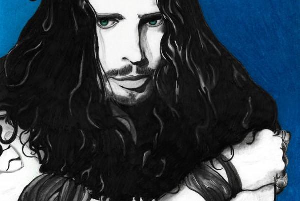 Chris Cornell Lion's Mane pencil illustration
