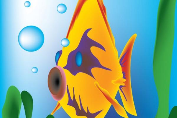 Fish Number 2 digital illustration
