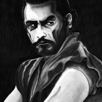 Toshiro Mifune pencil illustration