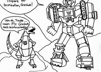 Grimlock Versus Devastator