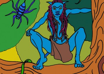 Avatar with Spider (colored)