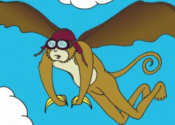 Flying Monkey (colored)