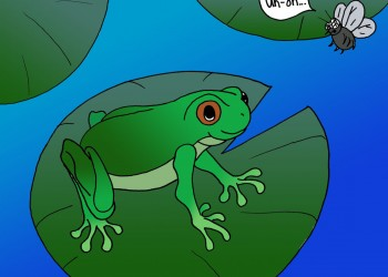 Frog Finds Dinner (colored)