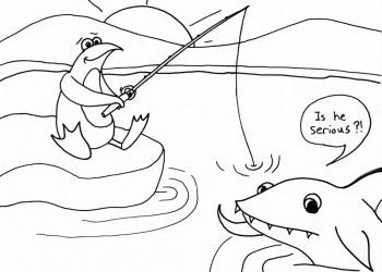 Penguin Gone Fishing